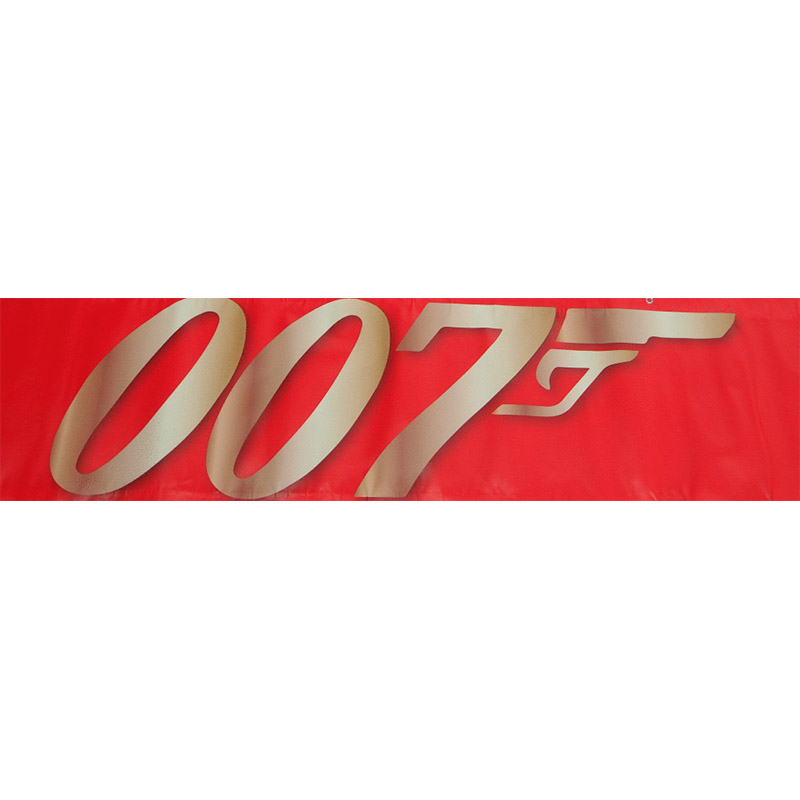 Themed Entrance Banners 007 Red Logo Hire Melbourne 1