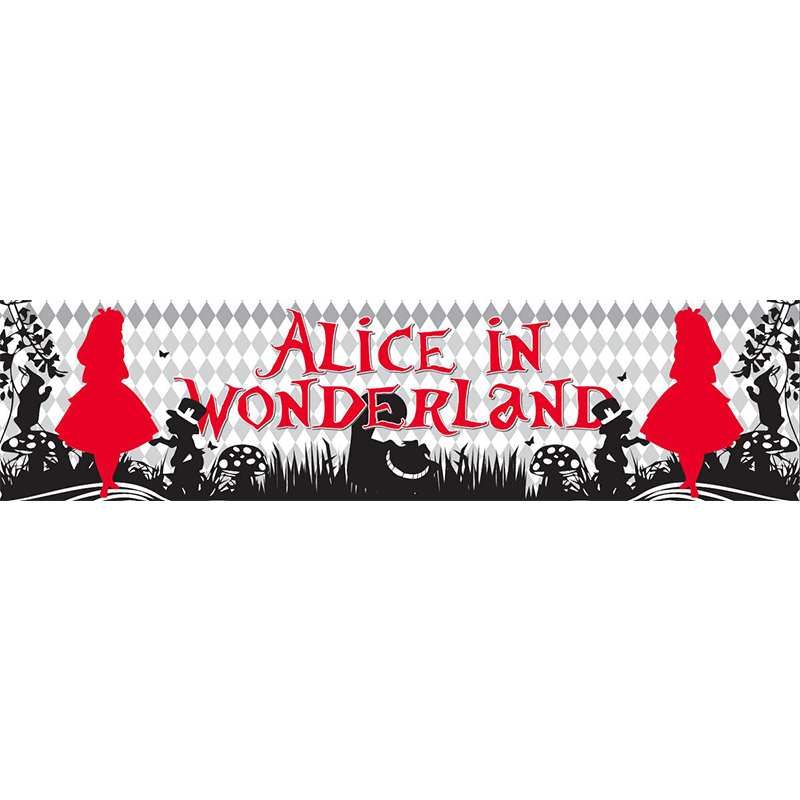 Alice In Wonderland Themed Entrance Banner Hire Melbourne