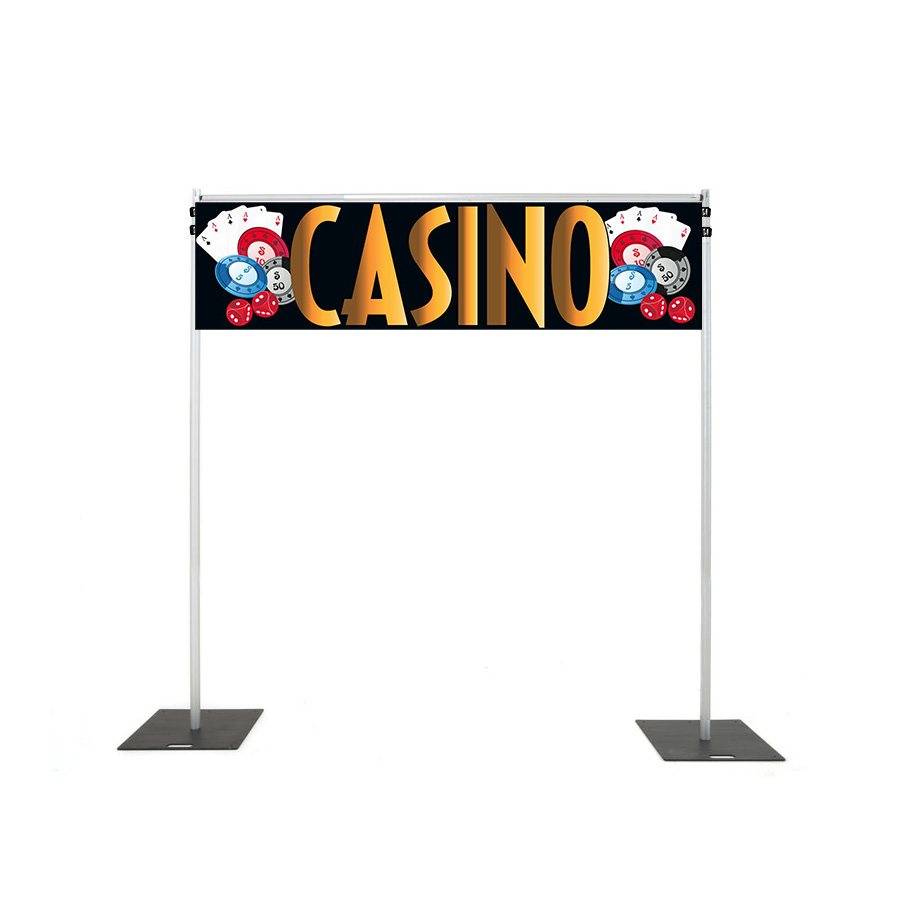 Backdrop Rigging with casino banner hire melbourne