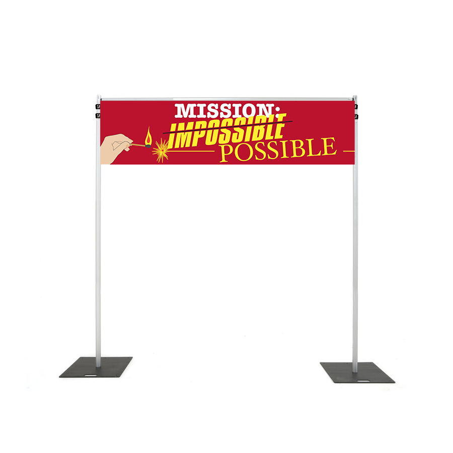 Backdrop Rigging with mission possible banner hire melbourne