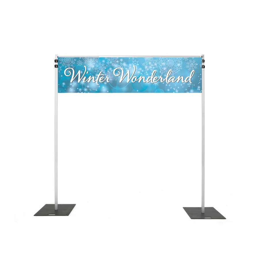 Backdrop Rigging with winter wonderl and light banner hire melbourne