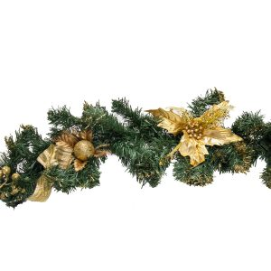 Christmas Garland - Gold hire melbourne - thumbnail