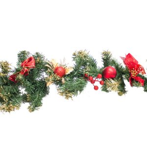 Christmas Garland - Red hire melbourne - thumbnail