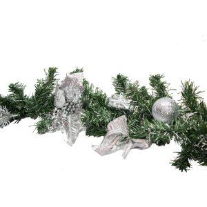 Christmas Garland - Silver hire melbourne - thumbnail