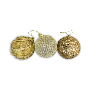 Christmas Ornaments hire - Christmas Bauble hire melbourne - gold