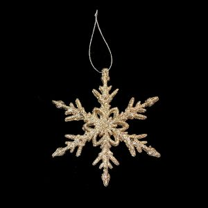 Christmas Ornaments hire - Gold Arrow Snowflake