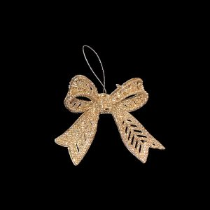 Christmas Ornaments hire - Gold Bow