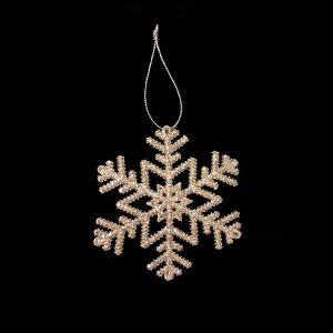 Christmas Ornaments hire - Gold Fern Snowflake