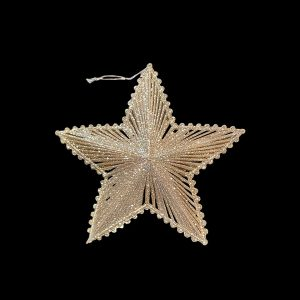 Christmas Ornaments hire - Gold Star - flat