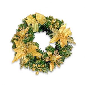 Christmas Wreath - Gold hire melbourne - thumbnail