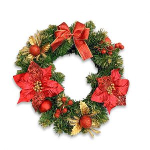Christmas Wreath - Red hire melbourne - thumbnail