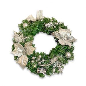 Christmas Wreath - Silver hire melbourne - thumbnail