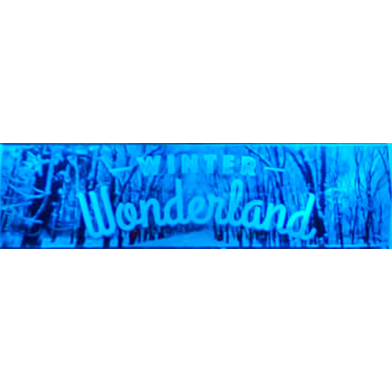 Dark Winter Wonderland Themed Entrance Banner Hire Melbourne