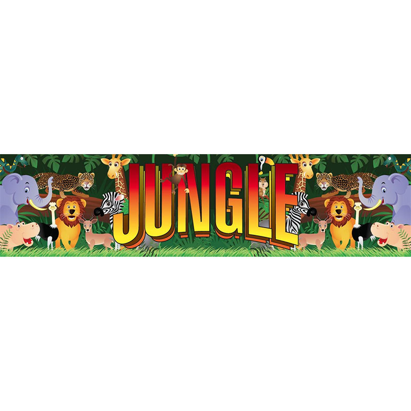 Jungle Themed Entrance Banner Hire Melbourne