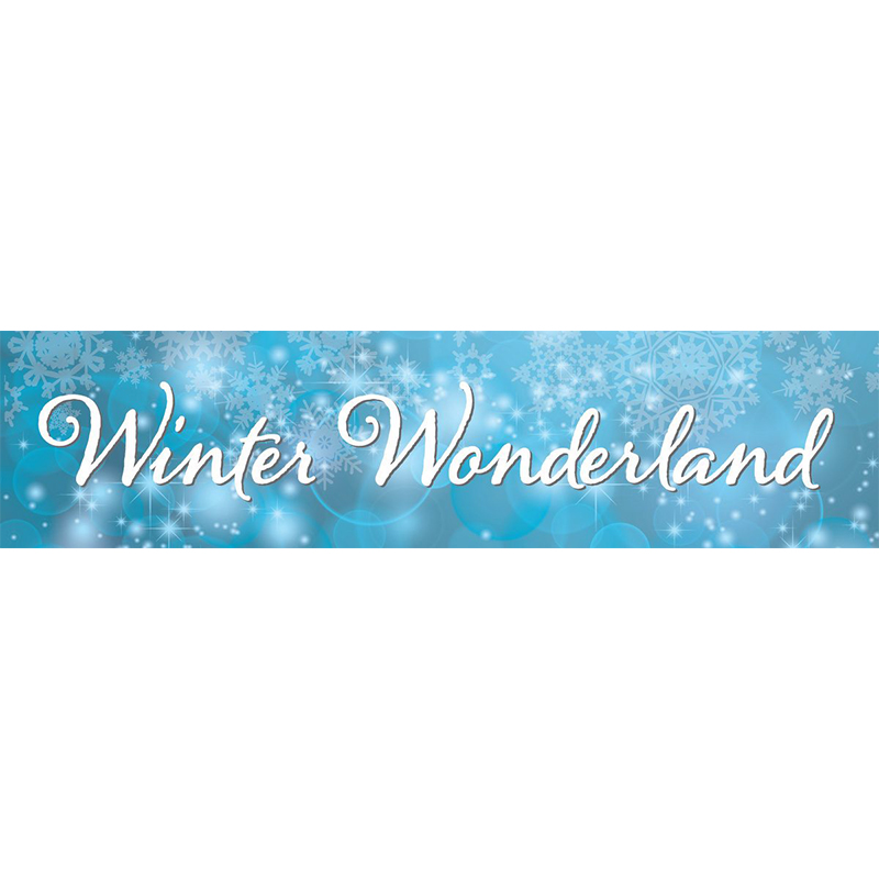 Light Winter Wonderland Themed Entrance Banner Hire Melbourne