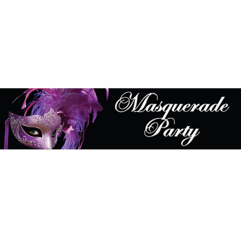 Masquerade Themed Entrance Banner Hire Melbourne