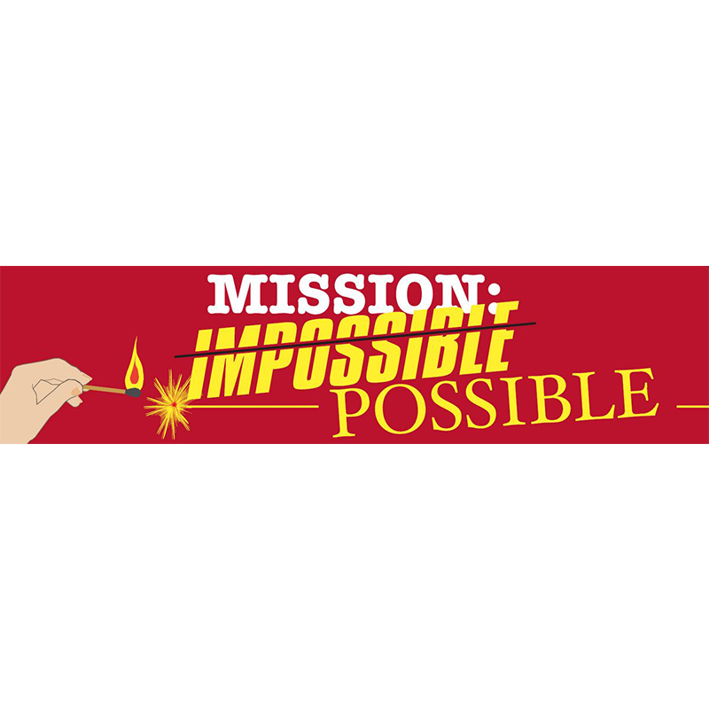 Mission Possible Themed Entrance Banner Hire Melbourne
