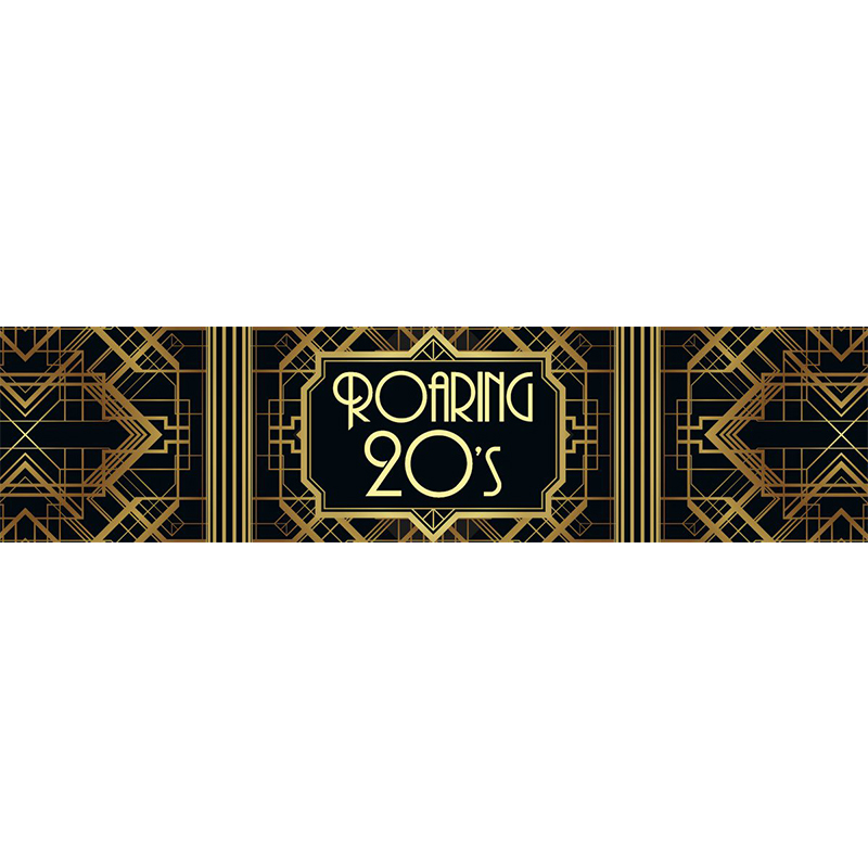 Roaring 20's Great Gatsby Themed Entrance Banner Hire Melbourne