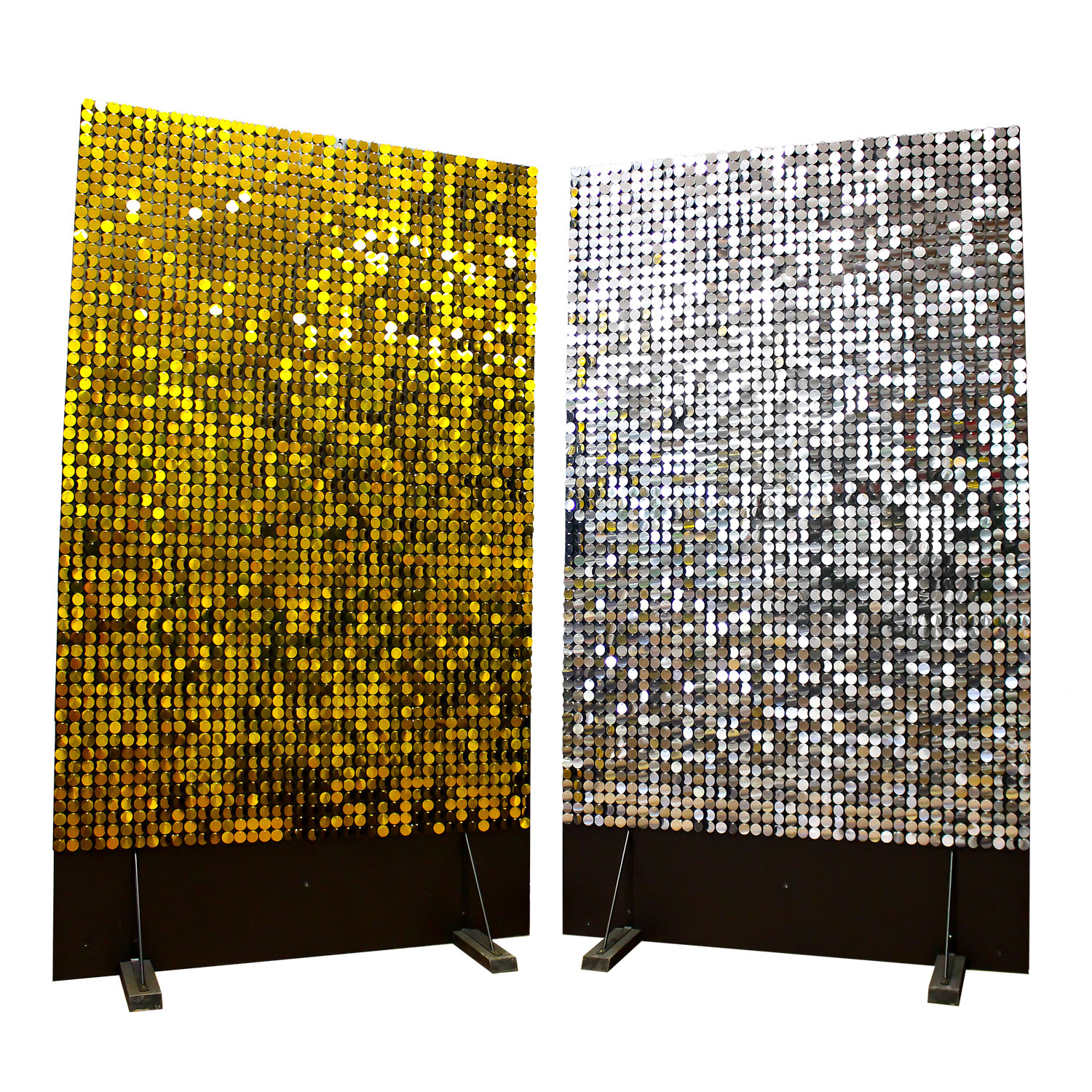 gold and silver Sequin Panel