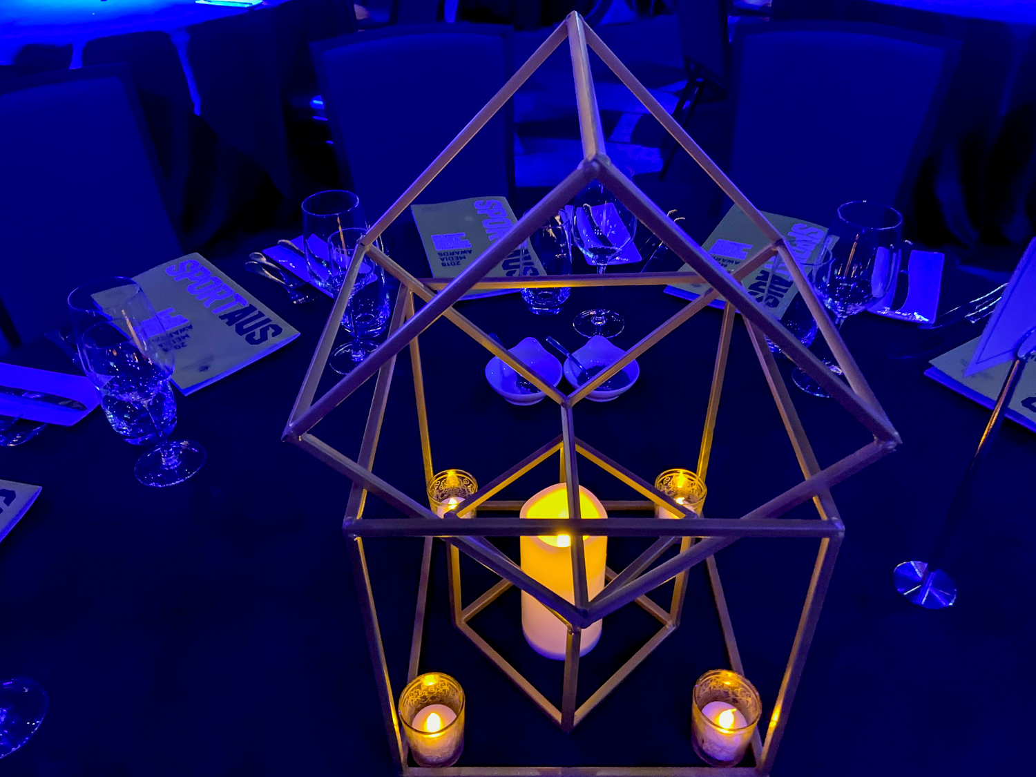 table centrepiece at a corporate event