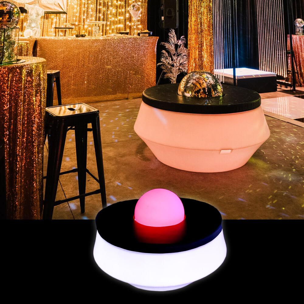 LED Donut Ottoman