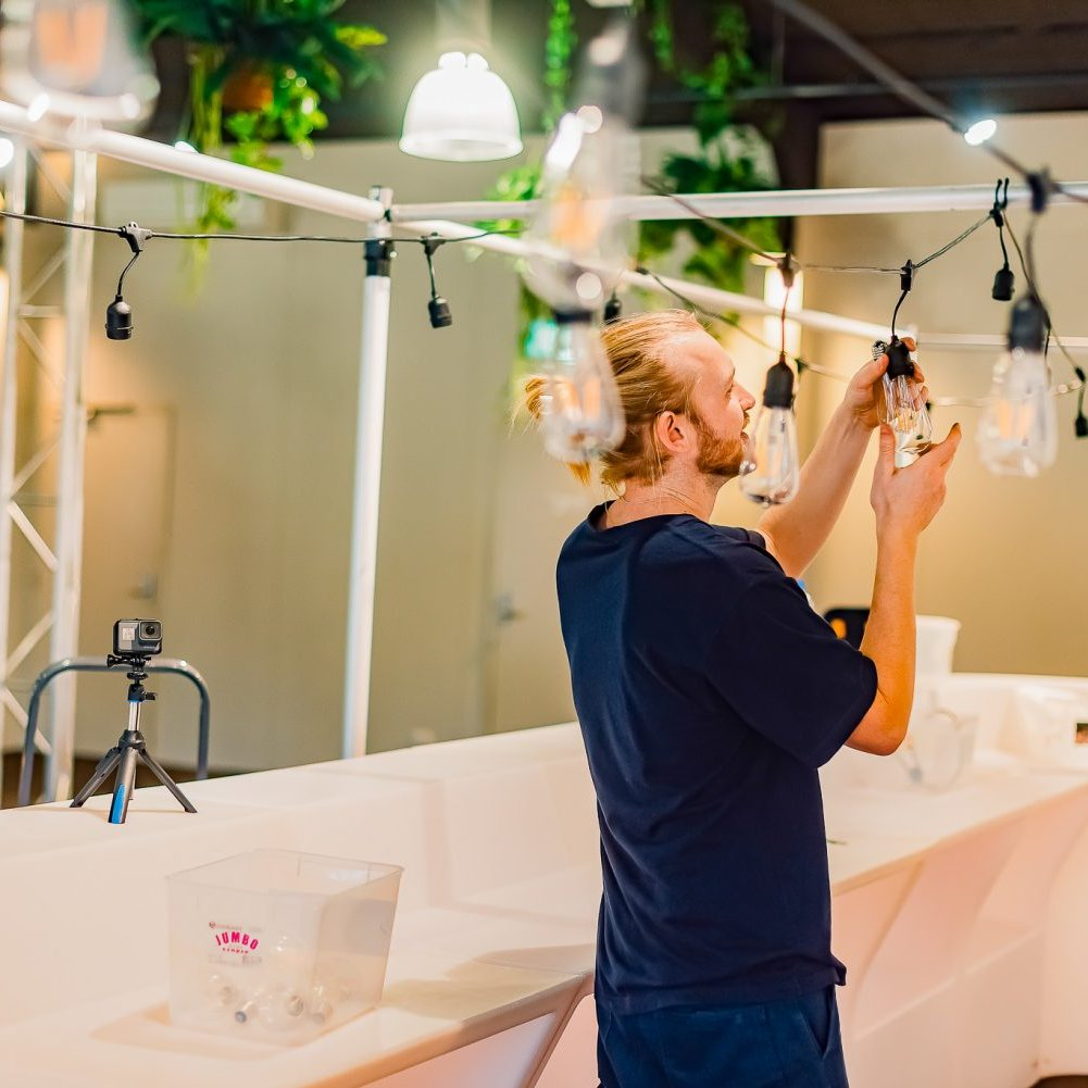 Helping hand event serviceFGE - Leopard Lodge Transformation | Melbourne Zoo set up