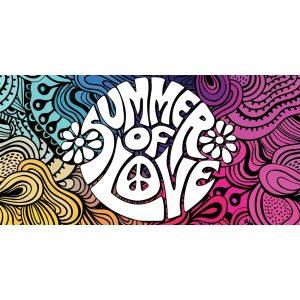 60s summer of love backdrop