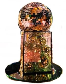 disco ball table centrepiece