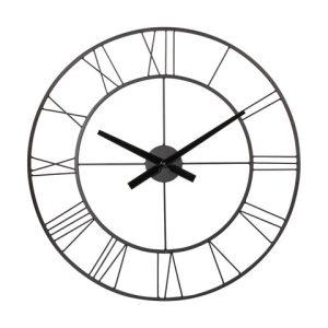 Black Metal Clock