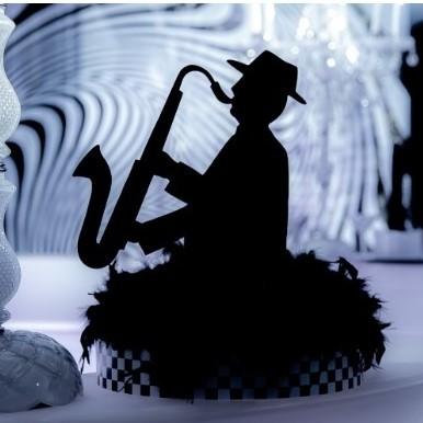 Black Acrylic Sax Player