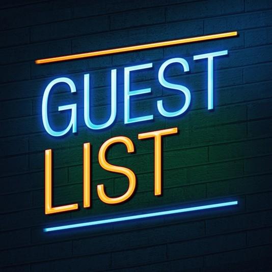 guest list sign