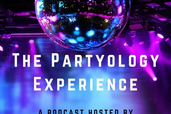 partyology experience podcast image of disco ball
