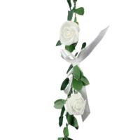 Mini-Rose-Bud-Garland-White-Hire