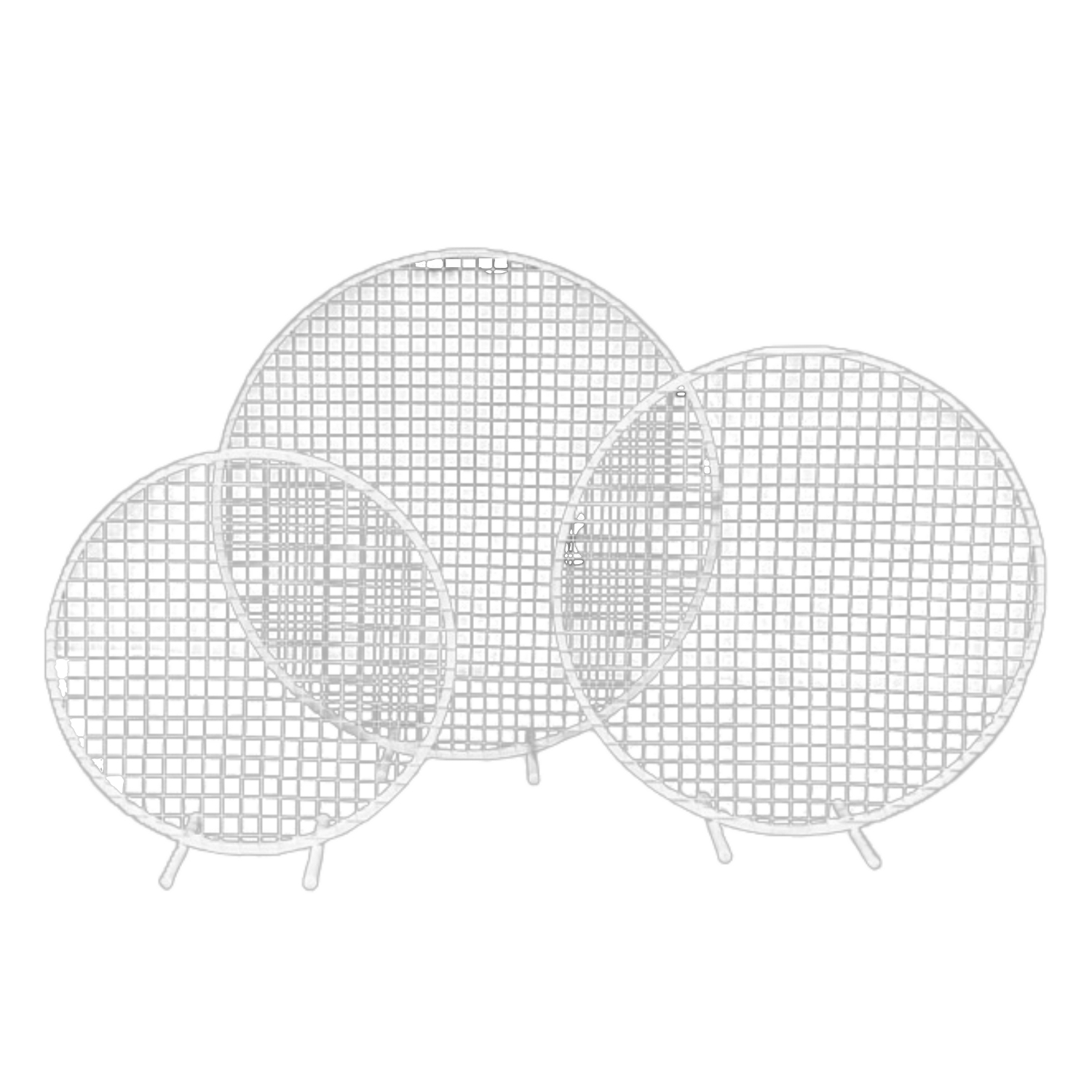 Flower-Stand-Hoop-With-Mesh-White-Hire