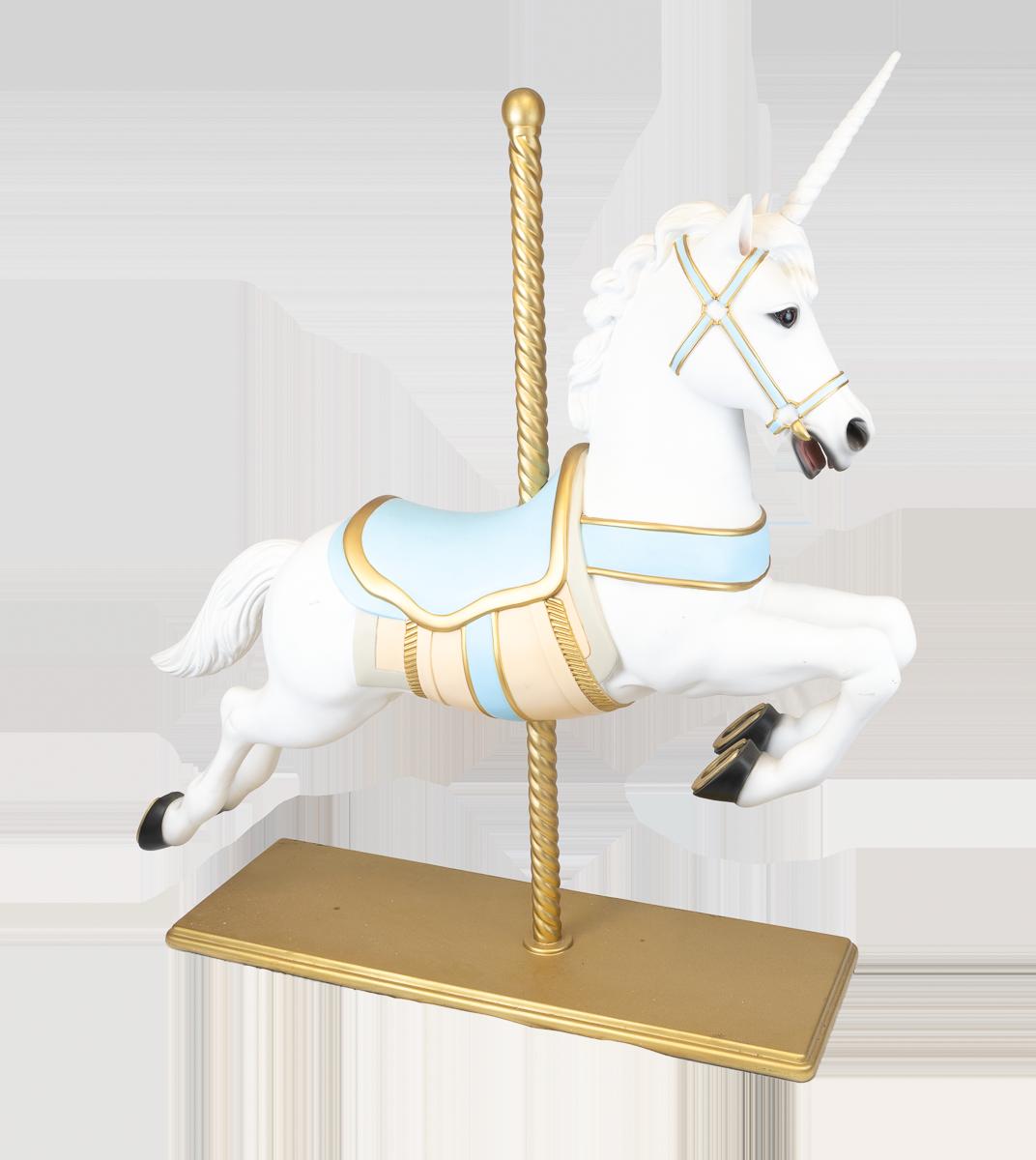 Blue-Carousel-Horse-Unicorn-Hire
