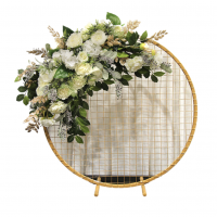 Medium-Flower-Stand-Hoop-With-Mesh-Gold-Hire