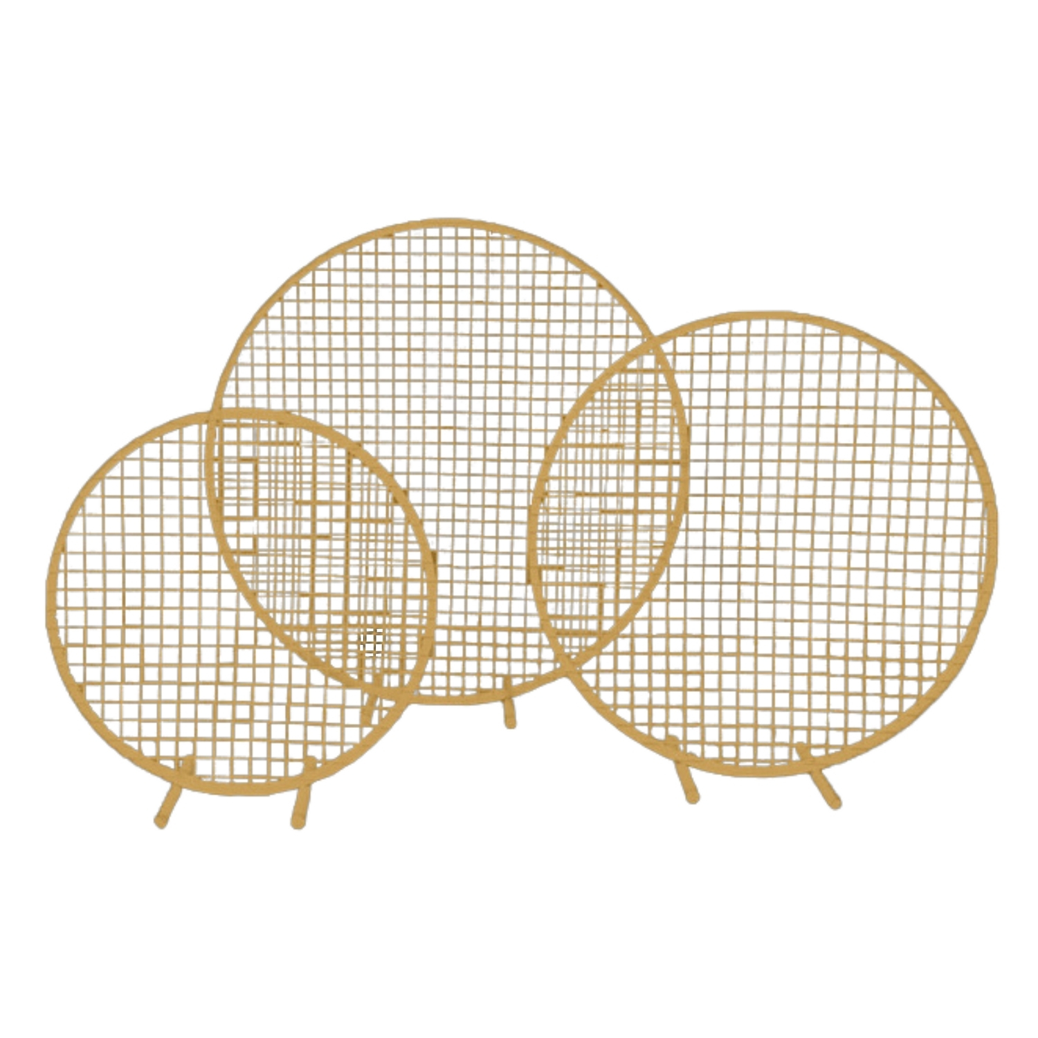 Flower-Stand-Hoop-With-Mesh-Gold-Hire