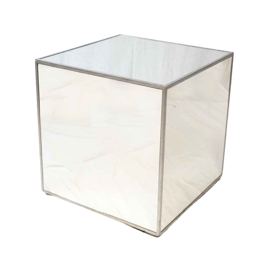 mirrored-cube-coffee-table-hire-melbourne