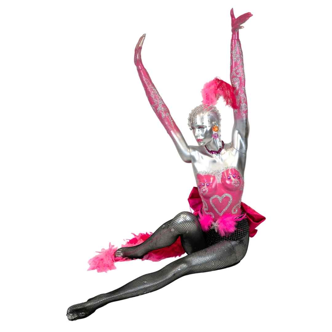 mannequin-female-arms-up-pink-hire-melbourne-feel-good-events
