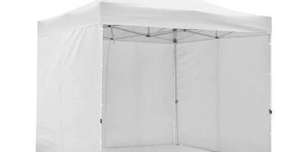 pop up white metal frame marquee