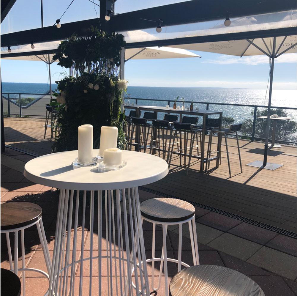 Ranelagh Club deck view with bar tables