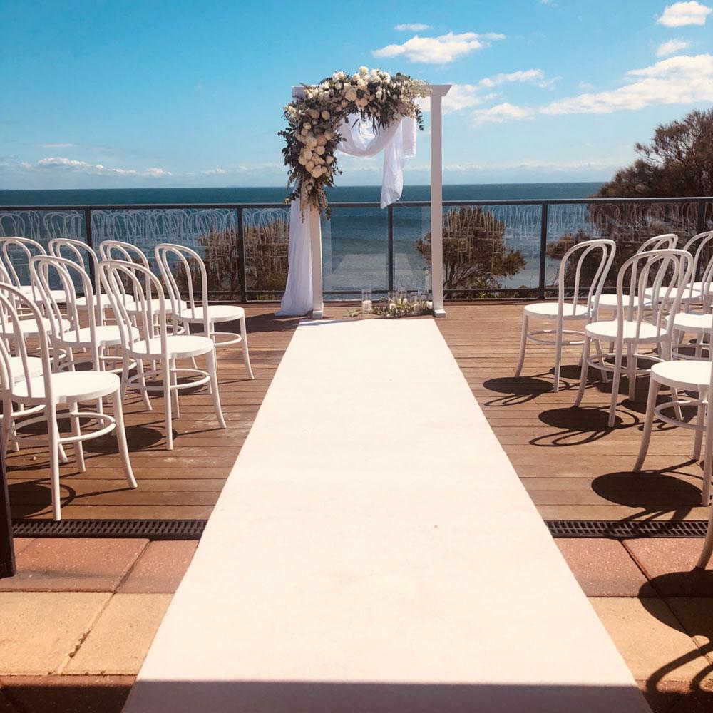 Ranelagh club mt eliza wedding ceremony on the deck