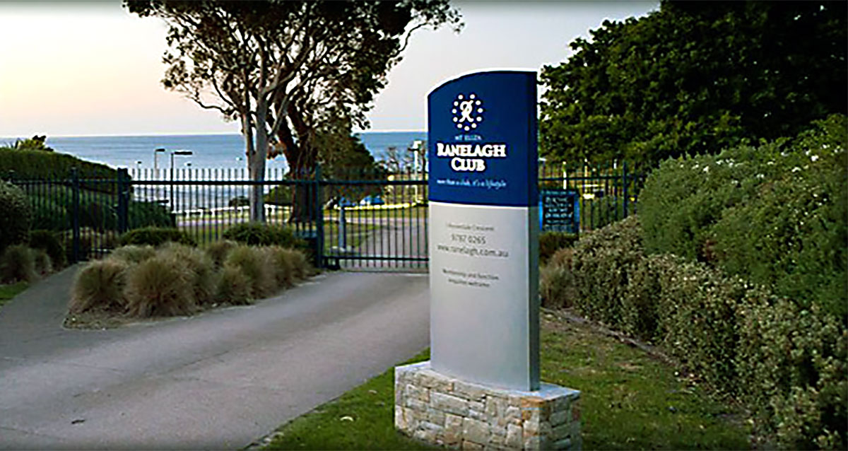 Ranelagh club mt eliza front gate